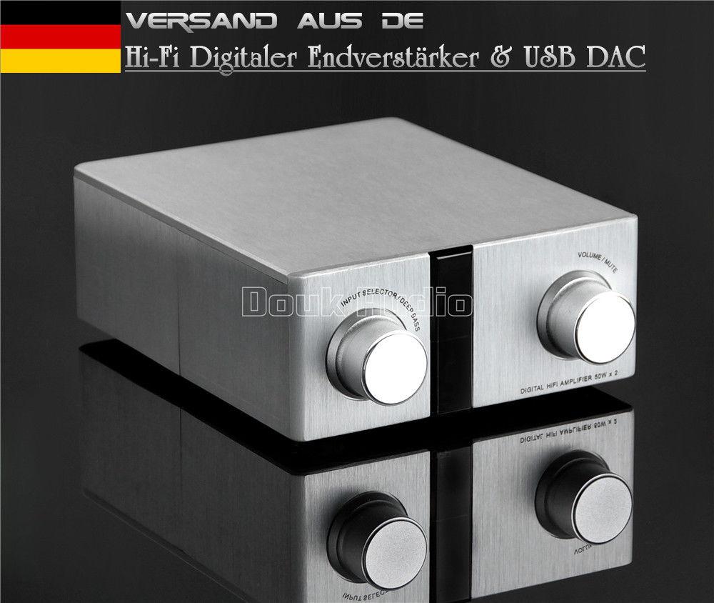 Nobsound чистый цифровой класса D HiFi Мощность усилитель 100 Вт USB ЦАП аудио декодирование 24Bit/192 К