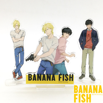 Love Thank You BANANA FISH Ash Okumura Eiji acrylic stand figure model plate holder cake topper anime love thank you nier automata 2b video game acrylic stand figure model double side plate holder cake topper anime japanese