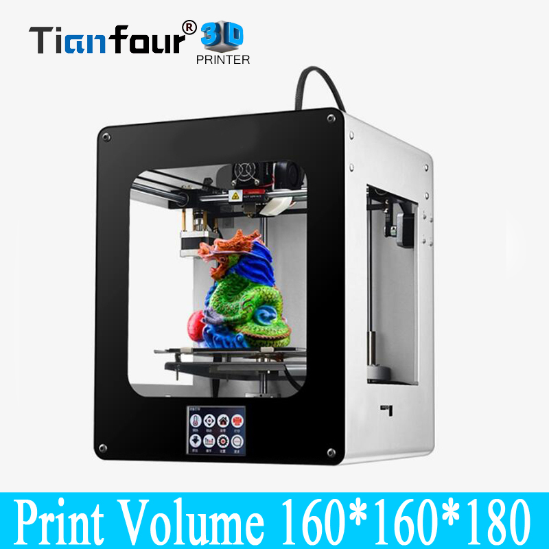 цена Tianfour T180 wifi touch color screen metal frame desktop 3d Printer High Precision accuracy power failure continued