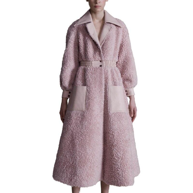 0f15747b99f2f Elegante Sportiva Vingtage 2018 Rosa Di Rivestimento Donne Inverno Delle  Tuta Cappotto Lungo Dell unità Colore ...