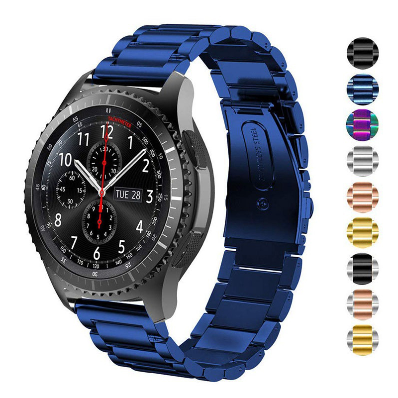 20mm 22mm Metal Strap for Samsung Gear S2 S3 Active Fitness Bracelet Smart Sports Watch Watchband Correa Wrist Belt Accessories