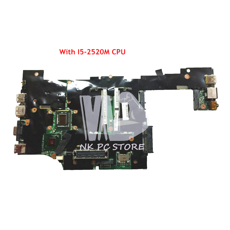 NOKOTION 04W3286 04W0676 04W0677 Main Board For Lenovo ThinkPad X220 Laptop Motherboard I5-2520M CPU 2.5GHz QM67 DDR3 nokotion 04y1842 04w0696 laptop motherboard for lenovo thinkpad x220 x220i sr04s i3 2310m cpu qm67 main board full work