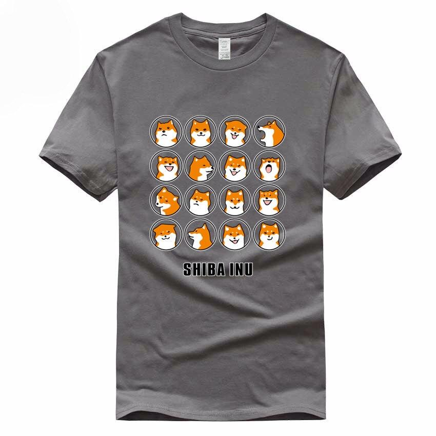 SHIBA INU Europe Size Funny T shirt Summer Doge Funny Cotton Tee Shirt Homme Men and Women Harajuku Dog Clothing GMT3000023