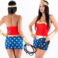 Sexy Wonder Woman Costume Carnival Costume Halloween Female Hero Adult Superhero Fancy Dress Hen Night Halloween Party