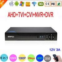 1080 P, 960 P, 720 P, 960 H видеонаблюдения Камера xmeye hi3521a 12V 3A Адаптер питания 16 каналов 16ch 1080n 6 в 1 Wi Fi TVI CVI NVR AHD DVR регистратор видеорегистратор системы