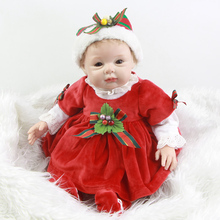 Reborn Baby Doll 22 Inches Lifelike Silicone Vinyl Babies Newborn Real Looking Toy Wearing Clothes Kids Birthday Christmas Gift