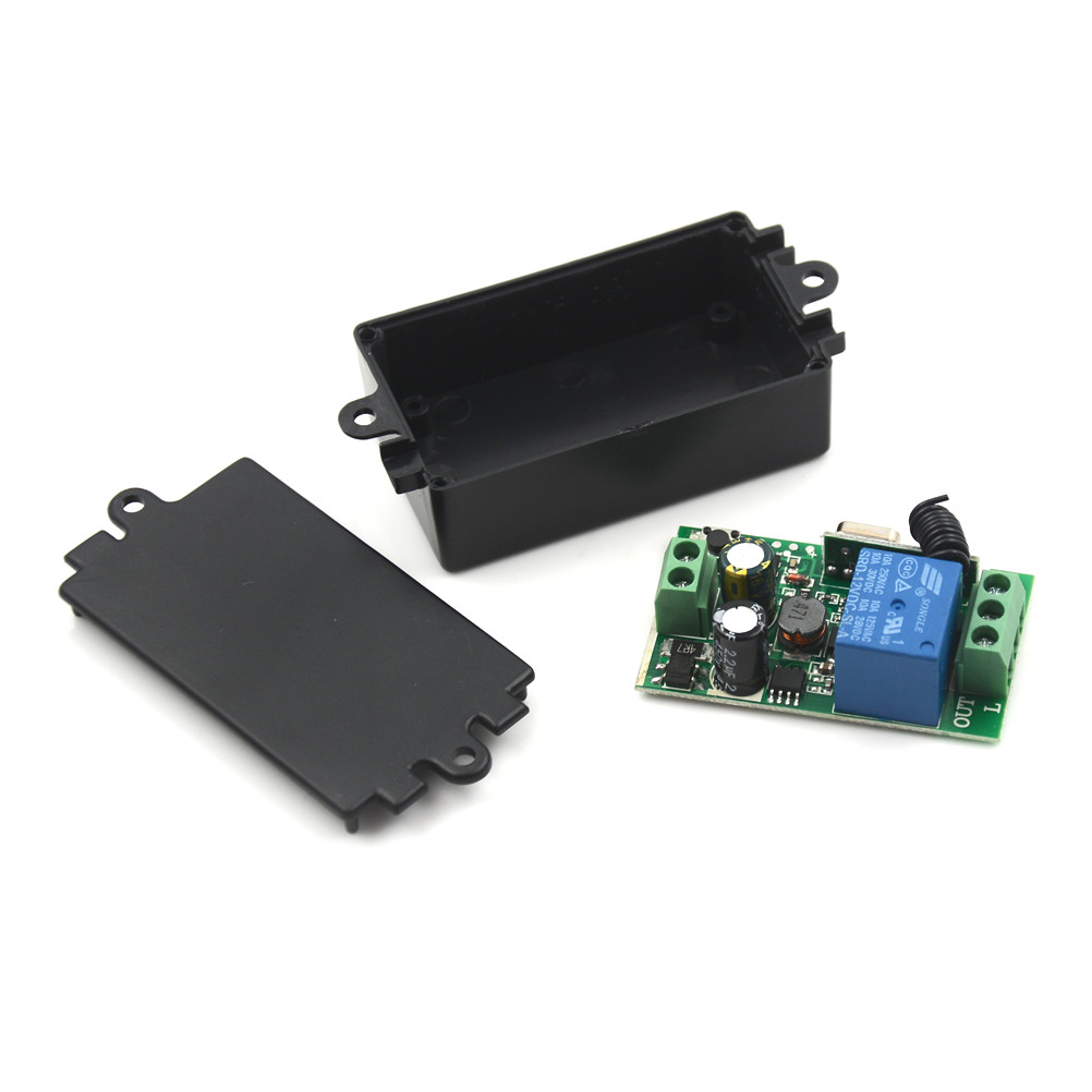 433MHz AC 220V 1 Channel Remote Control Switch Wireless Relay Receiver Module for Light RF Transmitter Garage Universal Switch