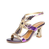 2016 New Hollow High Heels Women Pumps Rhinestones Peep Toe Wedding Shoes Woman Italian Office Ladies