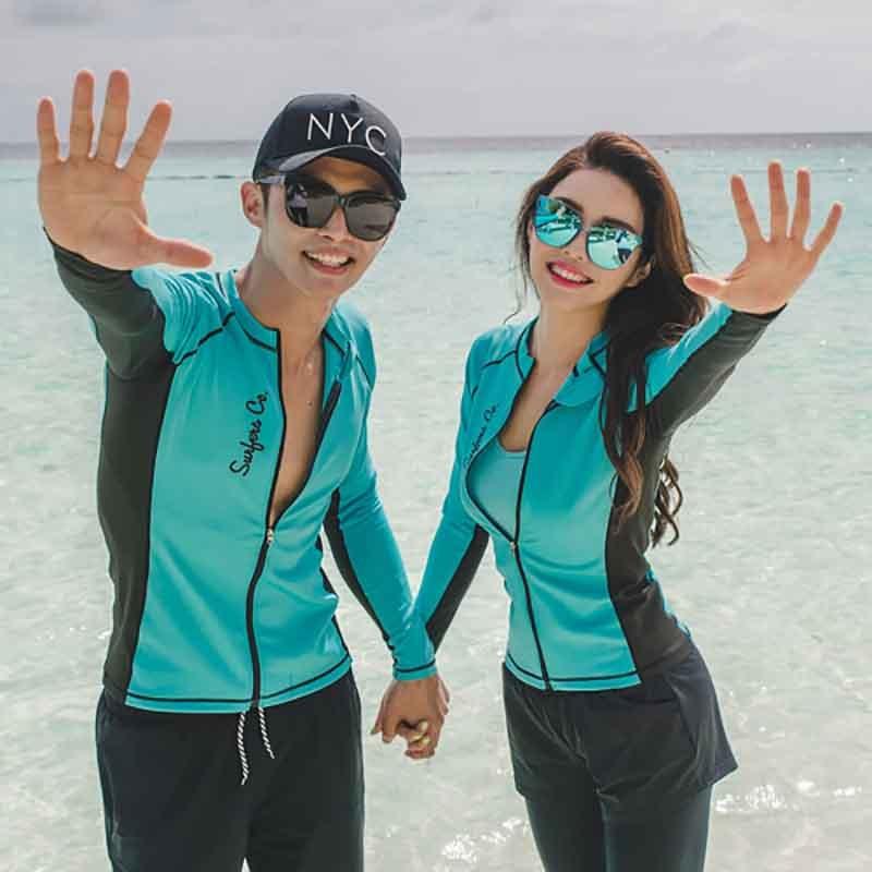 Rhyme Lady women five pieces swimsuit for lover long sleeve Rash guard sun protective swimwear 2018 bathing suit beach wear все цены