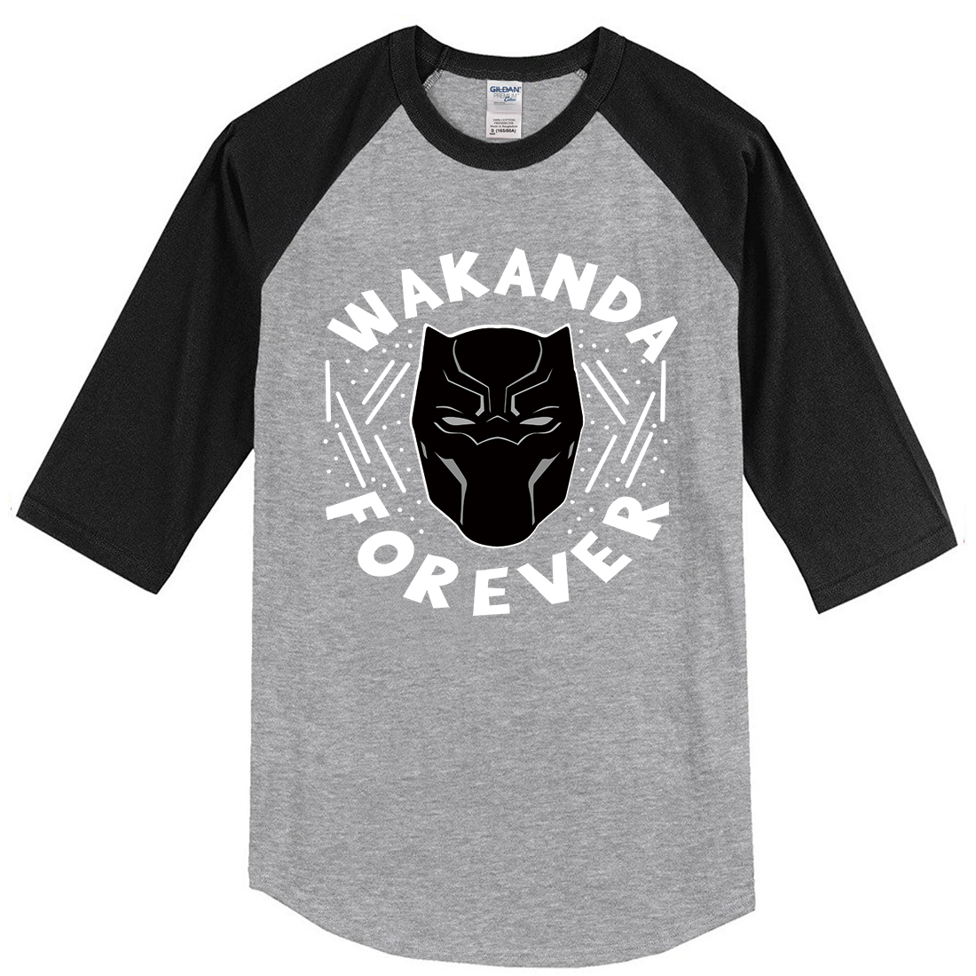 Hot Sale 2019 Fashion Spring Summer Men Shirt Streetwear Shirt Men's T-shirts WAKANDA FOREVER Black Panther Tops Hip Hop Tshirt