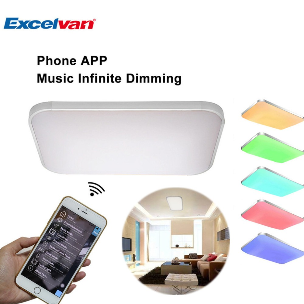 Aliexpress : Buy 42w Led Ceiling Light With Wifi Music Infinite Dimming  Control, Ac 85 265v Ceiling Lamp With Phone App,suitable For Home Light  From