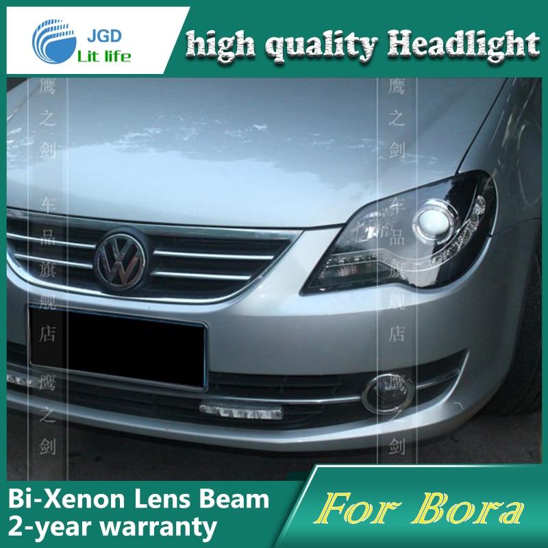 Hoge Kwaliteit Auto Styling Hoofd Lamp Case Voor Vw Bora 2008 2011