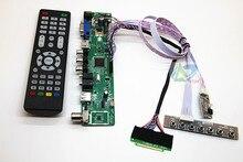 """TV+HDMI+VGA+AV+USB+AUDIO TV LCD driver board 12.1"""" LP121WX3 TLA1 B121EW09 N121IB L06 LTN121AT06 LCD controller board DIY kits"""