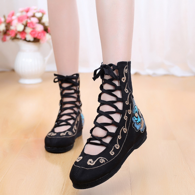 Chinese Vintage embroidery shoes national Han dynasty ethnic floral canvas linen women's flat shoes dance walking soft shoes vintage embroidery women flats chinese floral canvas embroidered shoes national old beijing cloth single dance soft flats