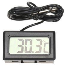 Цифровой ЖК-дисплей для салона автомобиля, измеритель температуры, термометр, датчик температуры, Автомобильные украшения, аксессуары