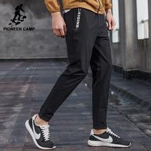 Pioneer camp тонкие летние случайные штаны мужчины марка одежды черный slim fit бегуны мужской высокое качество дышащие брюки axx701002