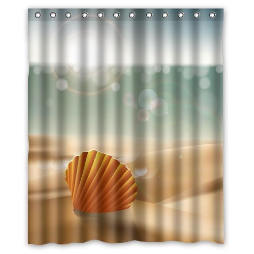 Ocean themed shower curtains - Ocean Theme Sunrise Sea Life Starfish On Summer Custom Shower Curtain Pattern Waterproof Shower Curtain For Bathroom 66 72inch