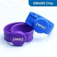 Силиконовые RFID Браслет RFID Браслет для контроля доступа с EM4200 Чип Бесплатная Доставка