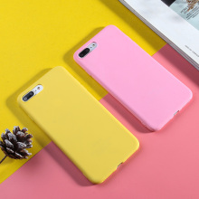 For iPhone 7 Plus Case Luxury Solid Color Phone X XR XS Max 5 5S SE 8 6 6s Candy Silicone TPU Cover