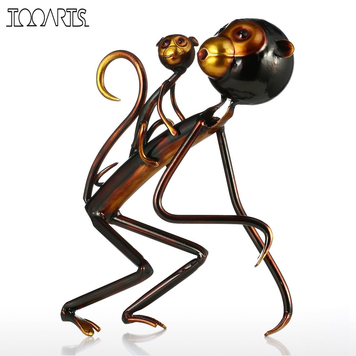 Tooarts Monkey Carrys Baby Metal Sculpture Iron Sculpture Abstract Sculpture Modern Sculpture Home Decoration Ornament GiftTooarts Monkey Carrys Baby Metal Sculpture Iron Sculpture Abstract Sculpture Modern Sculpture Home Decoration Ornament Gift
