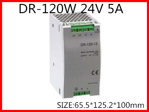 DR-120-24 Din Rail Switching power supply 120W 24VDC 5A Output 120w 12v din rail single output switching power supply dr 120 12