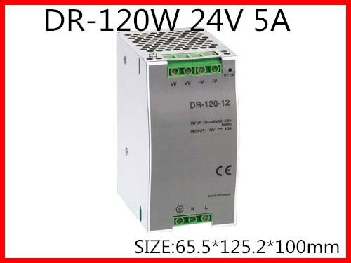 все цены на DR-120-24 Din Rail Switching power supply 120W 24VDC 5A Output онлайн
