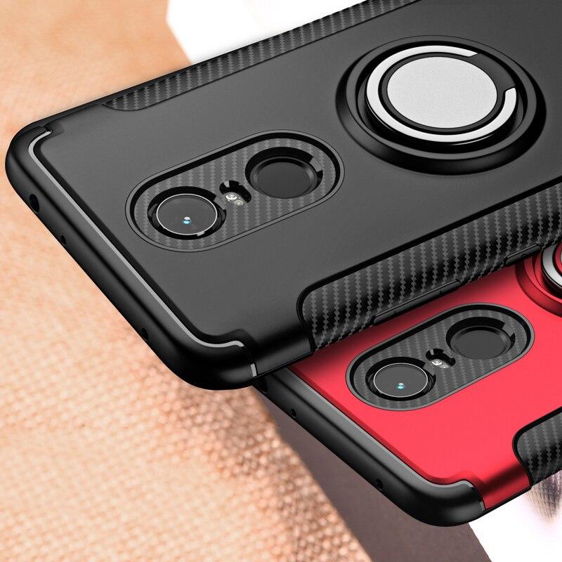 For Xiaomi Redmi 5 Plus Case Note 5 Pro 5A Prime Hybrid Silicone Armor Metal Finger Ring Holder Xiomi Xiaomi Redmi5 Phone Cover(China)