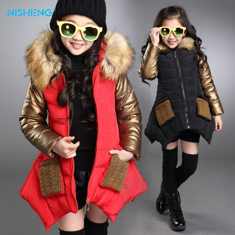 369a54ed7 2016 Fashion parkas girl clothing brand kids clothes winter children ...
