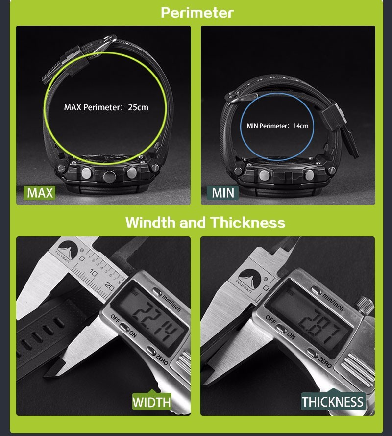 Men Sport Watch Waterproof Top Brand Luxury Military Watch LED Digital Quartz Wristwatch Relogio Masculino Reloj Hombre 2019 733 18