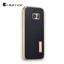Premium Metal Aluminum Frame + Carbon Fiber Back Cover Set Phone Cases For Samsung Galaxy S7 / Edge For iphone 7 7plus JS0616
