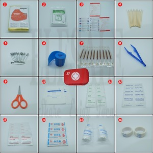 Image 4 - 17 Items/93pcs Portable Travel First Aid Kits For Home Outdoor Sports Emergency Kit Emergency Medical EVA Bag Emergency Blanket
