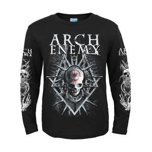Image 4 - 5 дизайнов, шведская группа Arch Enemy, 3D череп, рыцарь, рок, бренд, для мужчин и женщин, рубашка с длинным рукавом, тяжелый металл, панк, иллюстрация, футболка