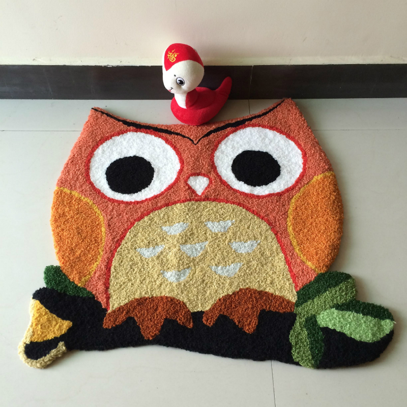 Handmade Animal Owl Door Carpet Entrance Porch Rugs Kid Room Floor Mat  Kitchen Balcony Doormat Alfombra