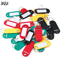 JINSE Plastic Keychain Blanks Key Ring Diy Name Tags For Baggage Paper Insert Luggage Tags Mix Color Key Chain Accessories