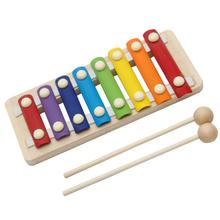 2018 Baby Wooden Kid 8-Note Xylophone Musical Toys Wisdom Development Hand Knock Piano Blue Brain Game Preschool Toy