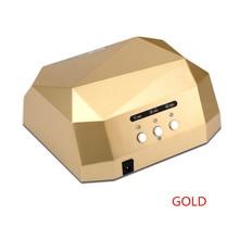 Högkvalitets Diamond Led Nail Lamp Med Auto Sensor 36W Dubbellampa CCFL + LED UV-lampa Gel Curing Nail Polish Ljusbehandling Tool