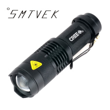 2017 New SMTVEK Mini Portable XML CREE Q5 Torch Waterproof 3 Modes Zoomable LED Flashlight Torch Light For 14500 or aaa