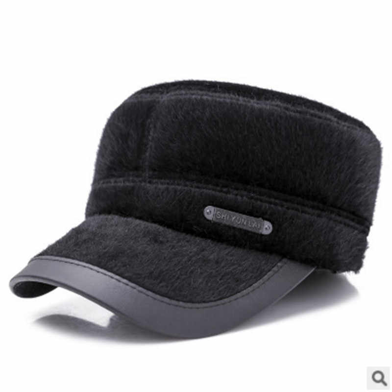 867276ef38f ... 2018 New Warm Bomber Hats Men Quality Russian Snow Hat Men Winter Hat  Caps with Earflaps ...