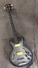 Wholesale New Cnbald ES335 Electric Bass Guitar Mahogany Body In Charcoal Burst