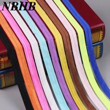NBHB Высококачественная эластичная лента ручной работы, цветная 10 ярдов/партия, ширина 15 мм, для рукоделия, лента для волос, эластичное украшение