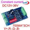 Оптовая продажа DMX 3CH RGB контроллер  высокая мощность постоянного тока 700ma  DMX512 декодер для светодиодной лампы RGB