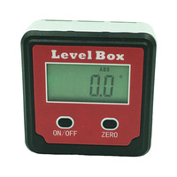 Red Precision digital protractor inclinometer Level box digital angle finder Bevel Box with magnet base Protractors