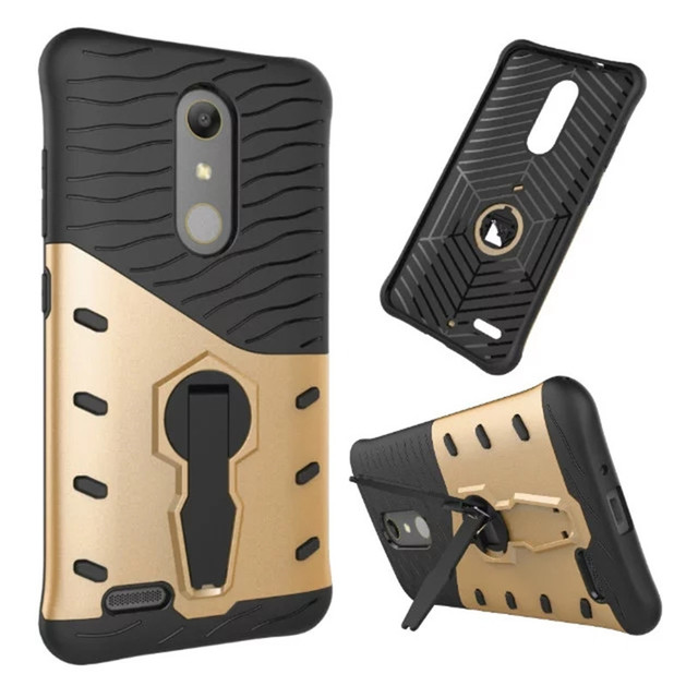 Rugged Armor Protective Case Shockproof Hybird Phone Case For ZTE Zmax Pro Z981 Cover With 360 Degree Rotate Stander
