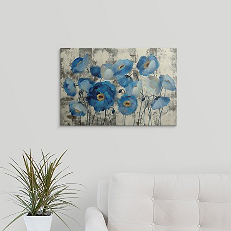Aquamarine Flowers Diamond Painting Full Round Diamond Embroidery Cross Stitch Beaded Embroidery Painting Wall Decor