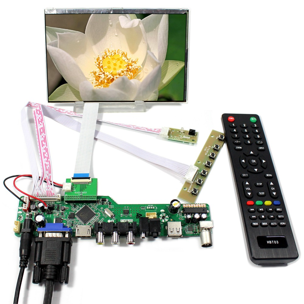 TV PC HDMI CVBS RF USB AUDIO LCD Controller Board 7inch 1280x800 HSD070PWW1-C00 IPS LCD Screen free shipping new singe phase diode bridge rectifier sql 200a 1600v modules