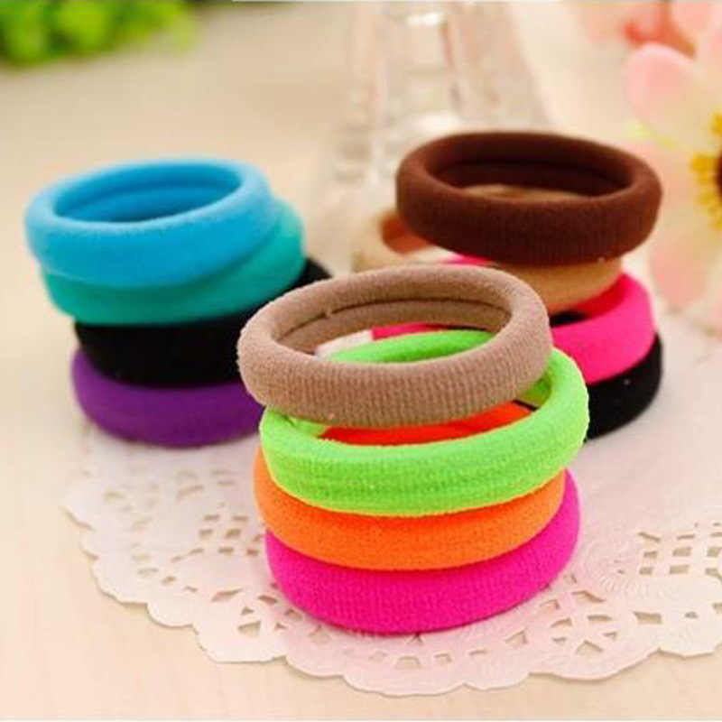 Sale 10 pcs Cute Girls Hair Ties Rope Accessories Rubber Rope Hair Elastic Bands