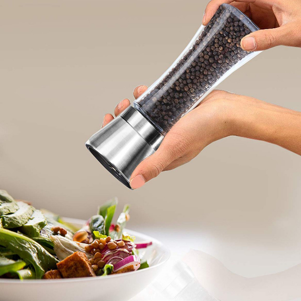 Herb & Spice Tools Kitchen Salt And Pepper Grinder Pepper Mill Hourglass Shape Spice Grinder Shakers For Kitchen Tools Cooking(China)