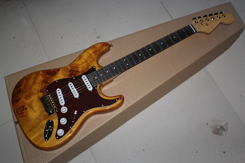 . Free Shipping Top Quality Stratocaster Custom Body Golden Hardware Rosewood Fingerboard Electric Guitar -1411-10 Bright And Translucent In Appearance