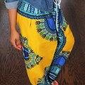 Women Retro Bohemian Casual Wide Leg Loose Pants Plus Size Drawstring Trousers