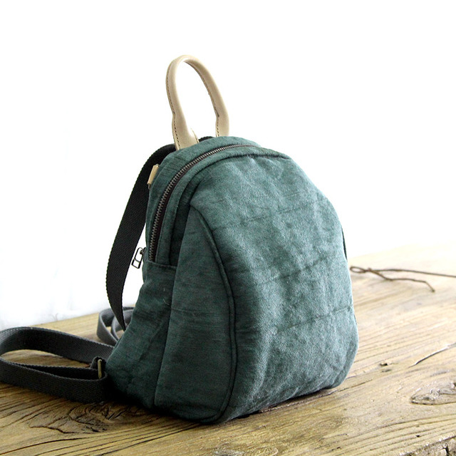 2018 Women s cotton linen Cloth backpack handmade female school all match  Backpacks Multifunction Solid Color Casual bags 3f9a149432